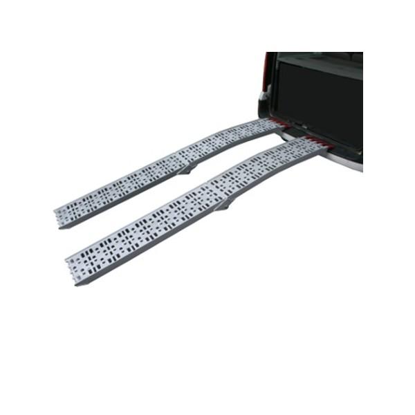 Coppia rampe rampa pedane pedana pieghevoli in alluminio for Rampe pieghevoli alluminio